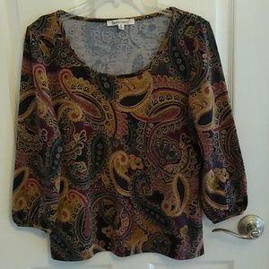 TravelSmith women's knit shirt, Size M